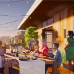 2225 Sunset roof deck rendering